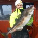 Morgan med torsk på 5,5 kilo